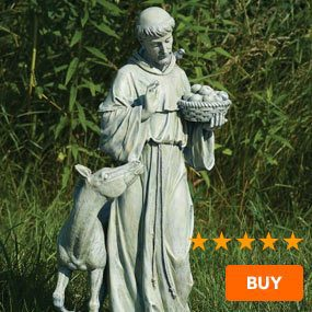"""St. Francis Garden Statue with Horse - 25.5"""""""