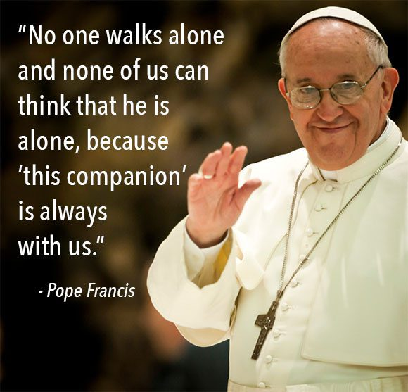 Pope Francis Angel Quote
